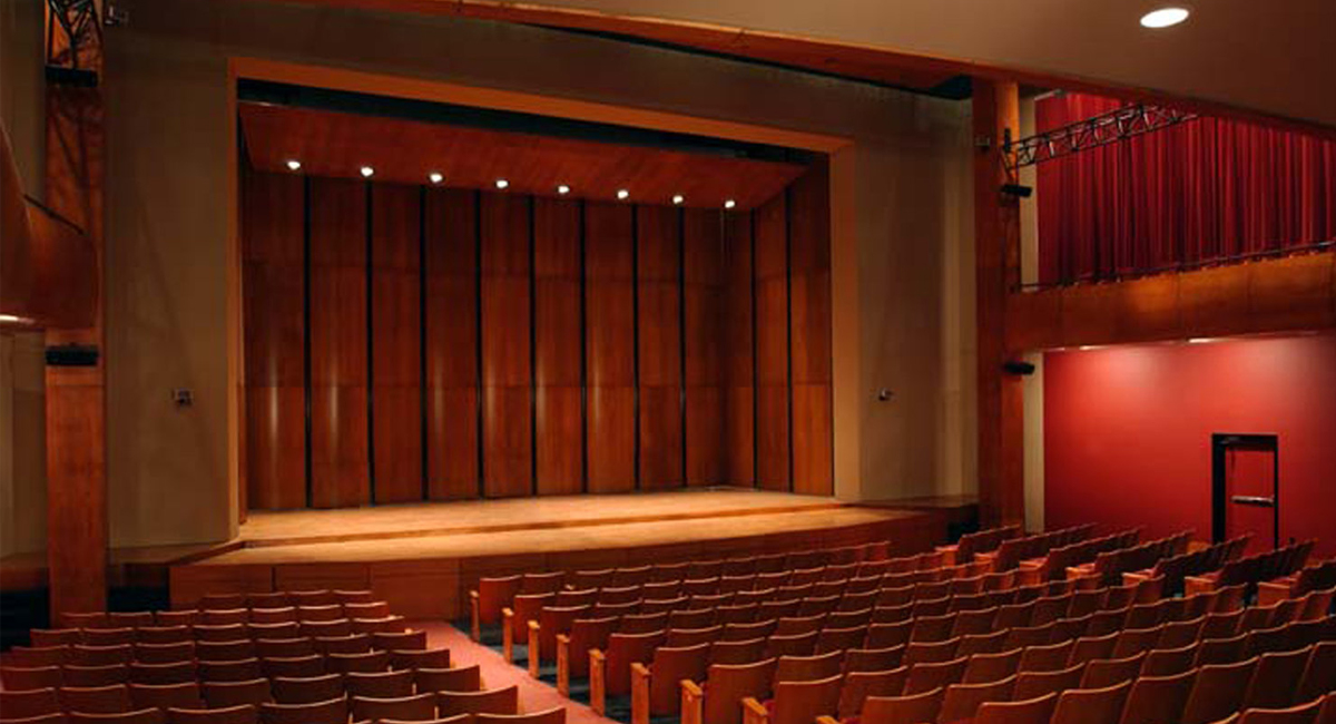 Zilkha Hall stage and seating