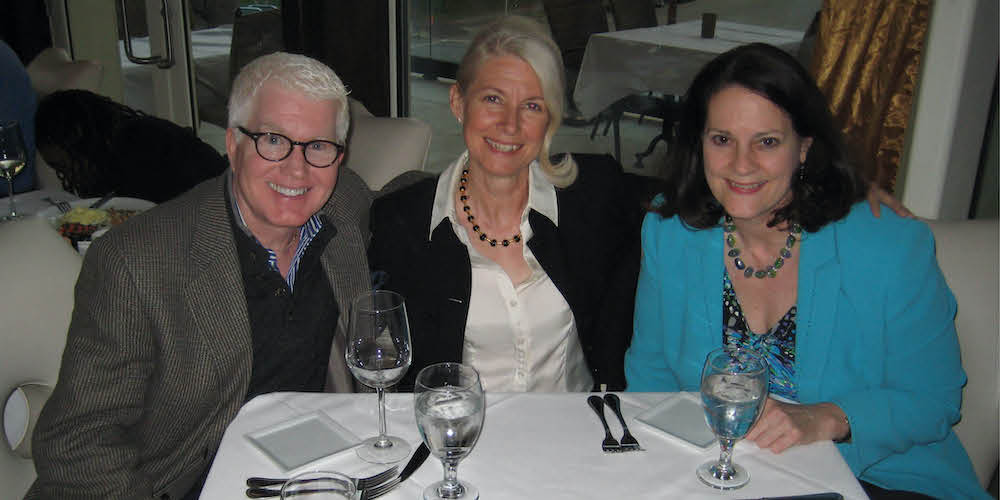 Donors at a dinner event